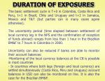 duration of exposures