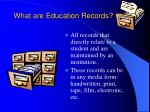 what are education records
