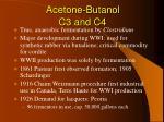 acetone butanol