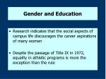 gender and education8
