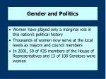 gender and politics