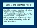 gender and the mass media