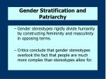 gender stratification and patriarchy4