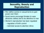 sexuality beauty and reproduction