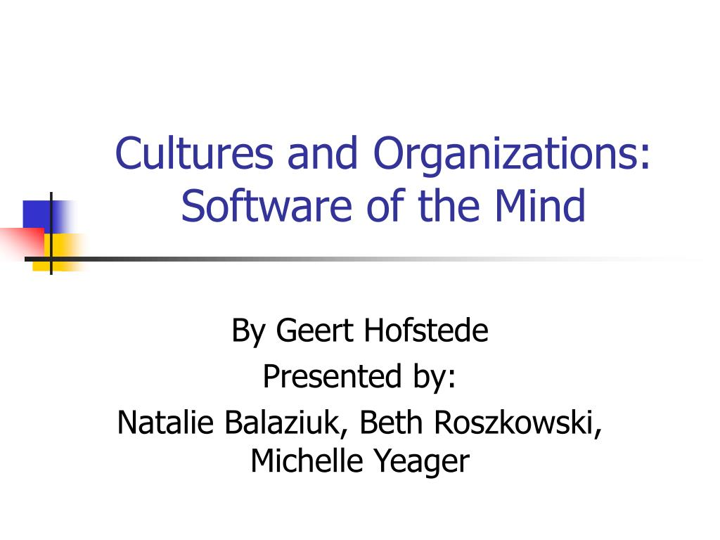 cultures and organizations software of the mind l.