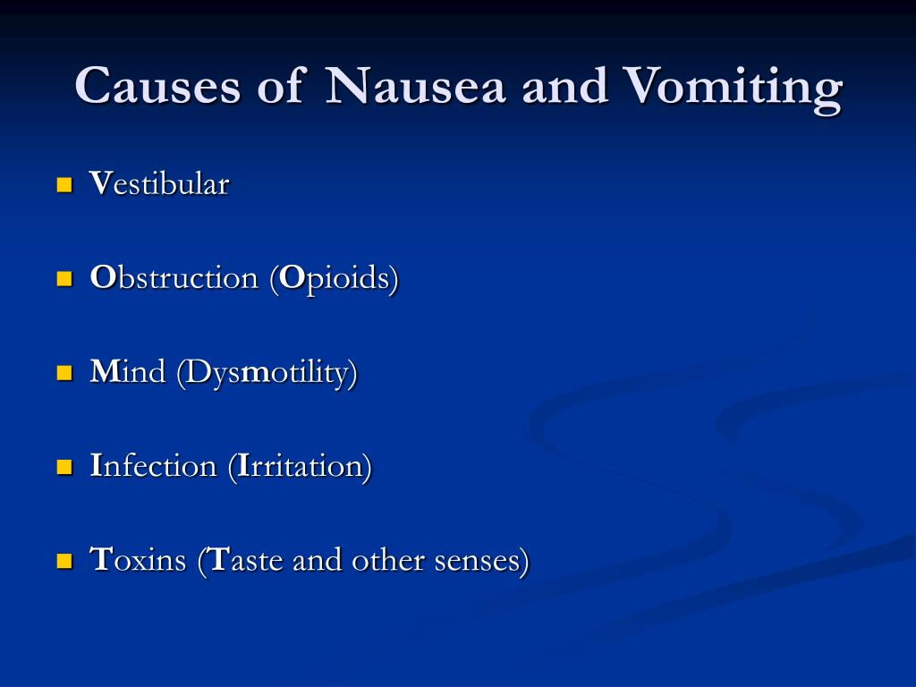 Causes of Nausea and Vomiting