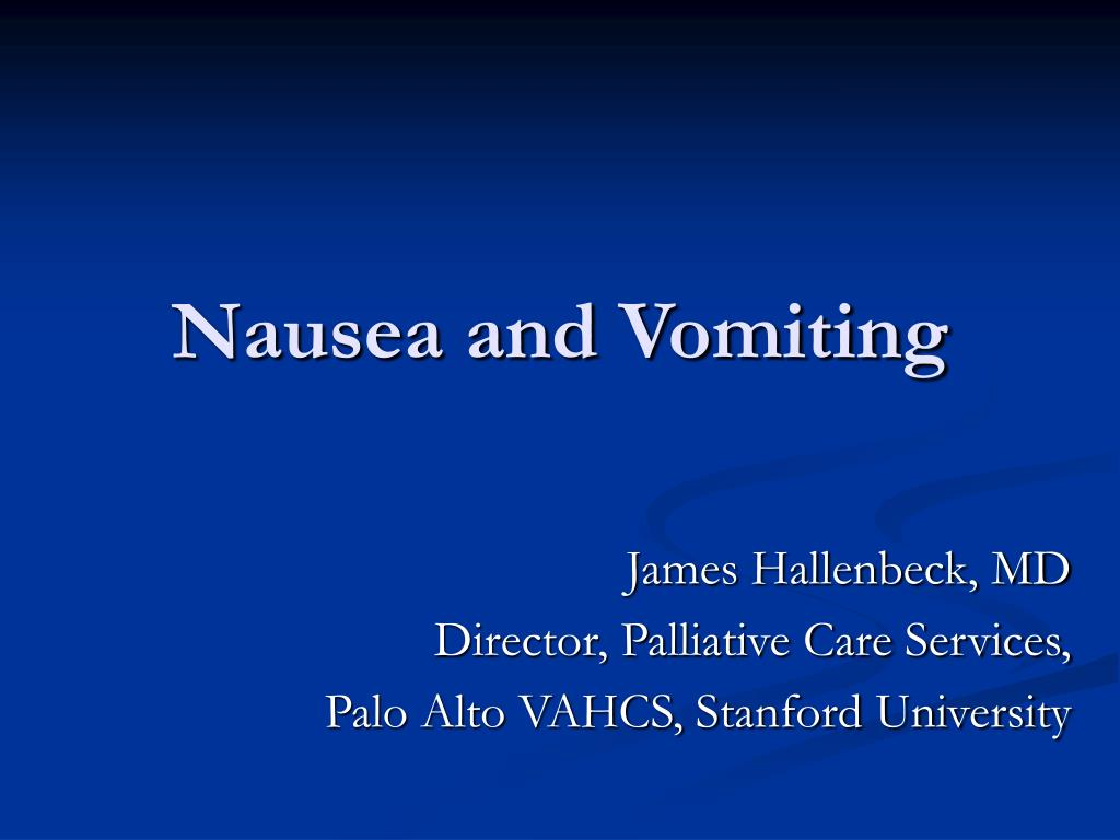 nausea and vomiting l.