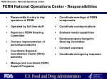 fern national operations center responsibilities