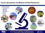 food laboratories are mission critical resources