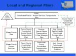 local and regional plans
