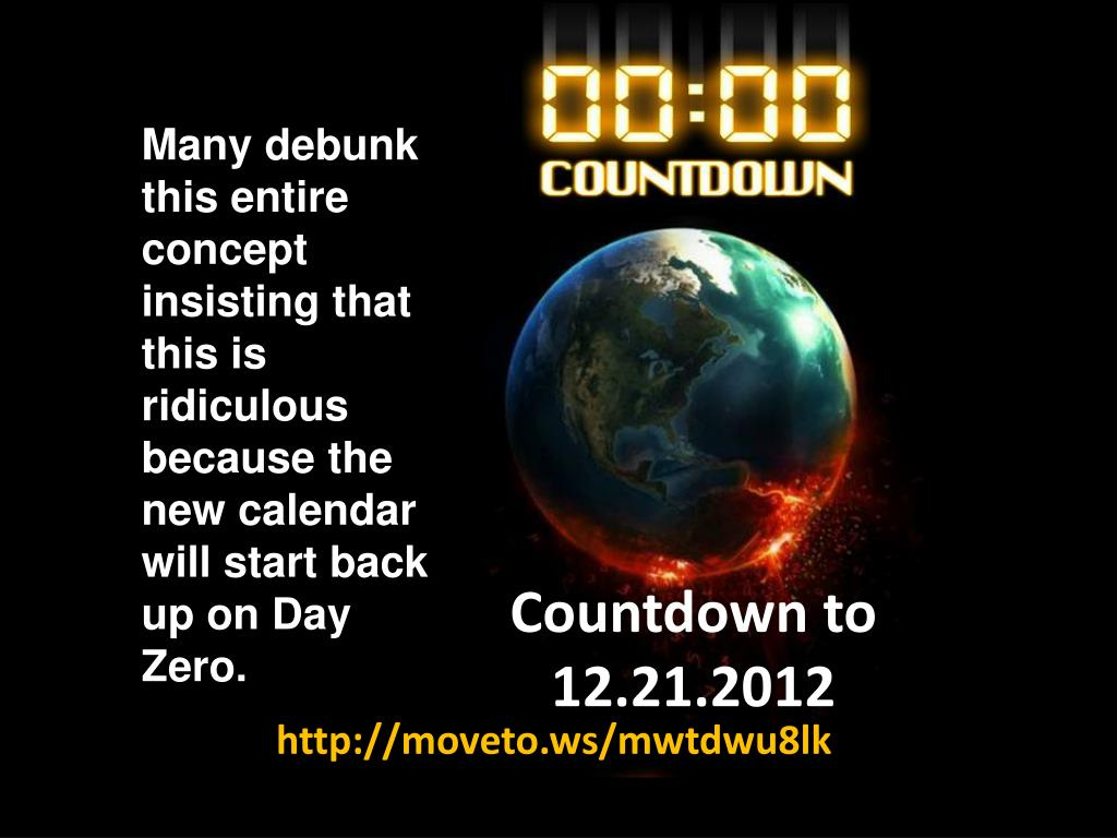 Many debunk this entire concept insisting that this is ridiculous because the new calendar will start back up on Day Zero.