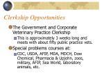 clerkship opportunities