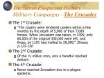 the great plaques of history military campaigns the crusades
