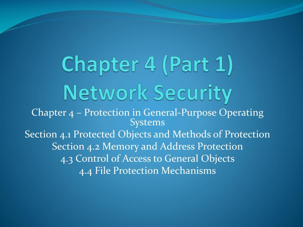 chapter 4 part 1 network security l.