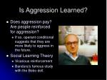is aggression learned