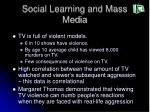 social learning and mass media