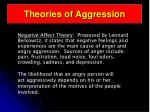 theories of aggression46