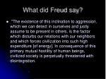 what did freud say17