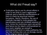 what did freud say18
