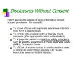 disclosures without consent