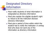 designated directory information
