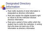 designated directory information