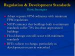 regulation development standards basic strategies