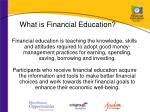 what is financial education