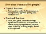 how does trauma affect people