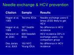 needle exchange hcv prevention