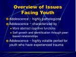 overview of issues facing youth