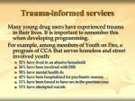 trauma informed services