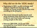 why did we do the yidu study