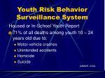 youth risk behavior surveillance system