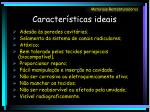 caracter sticas ideais