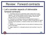 review forward contracts