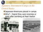 japanese internment camps in the united states