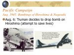 pacific campaign aug 1945 bombings of hiroshima nagasaki