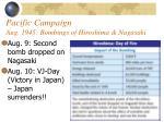 pacific campaign aug 1945 bombings of hiroshima nagasaki57