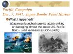 pacific campaign dec 7 1941 japan bombs pearl harbor