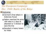the european campaign dec 1944 battle of the bulge