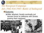 the european campaign july 1942 feb 1943 battle of stalingrad