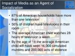 impact of media as an agent of socialization