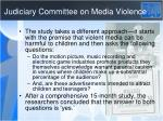 judiciary committee on media violence