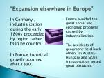 expansion elsewhere in europe