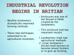 industrial revolution begins in britian