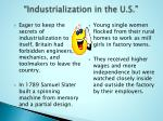 industrialization in the u s