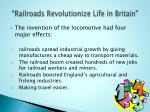 railroads revolutionize life in britain