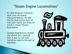 steam engine locomotives