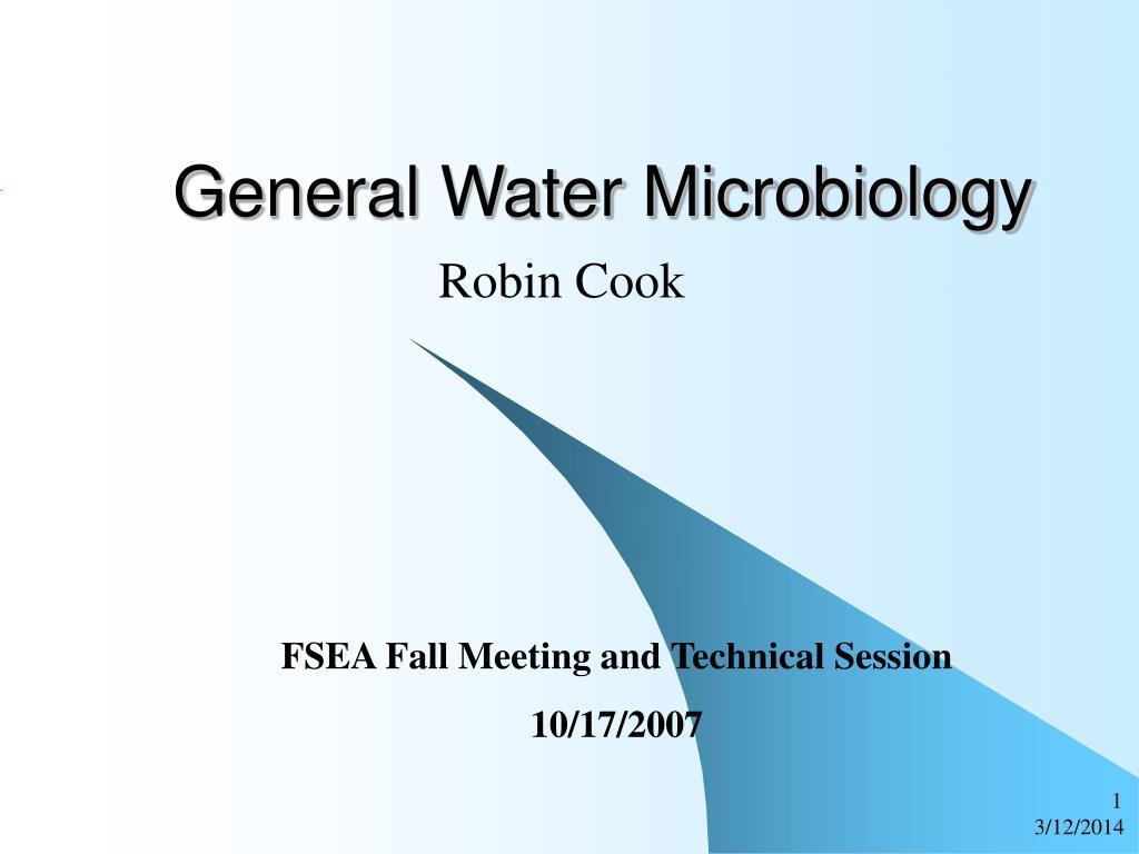 general water microbiology l.